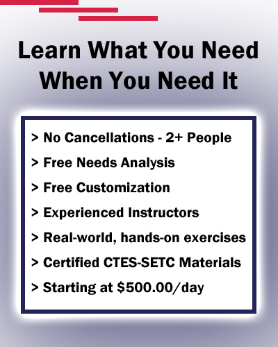 CTES-SETC Small Group and Needs Specific Training starting at $350.00/day