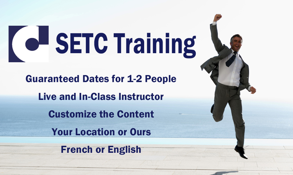 Guaranteed training for 2 Participants - Live Instructor - Your Location or Ours