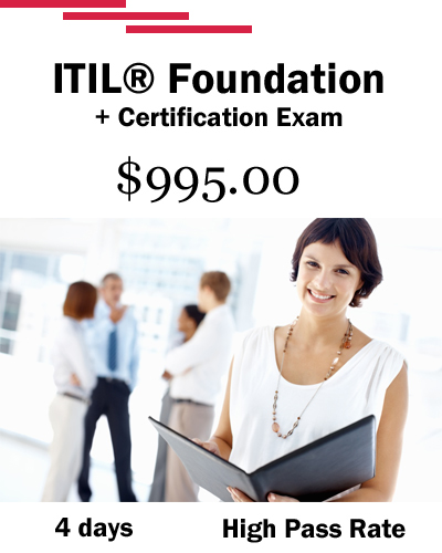 ITIL Foundation Training: 4 days and $995.00